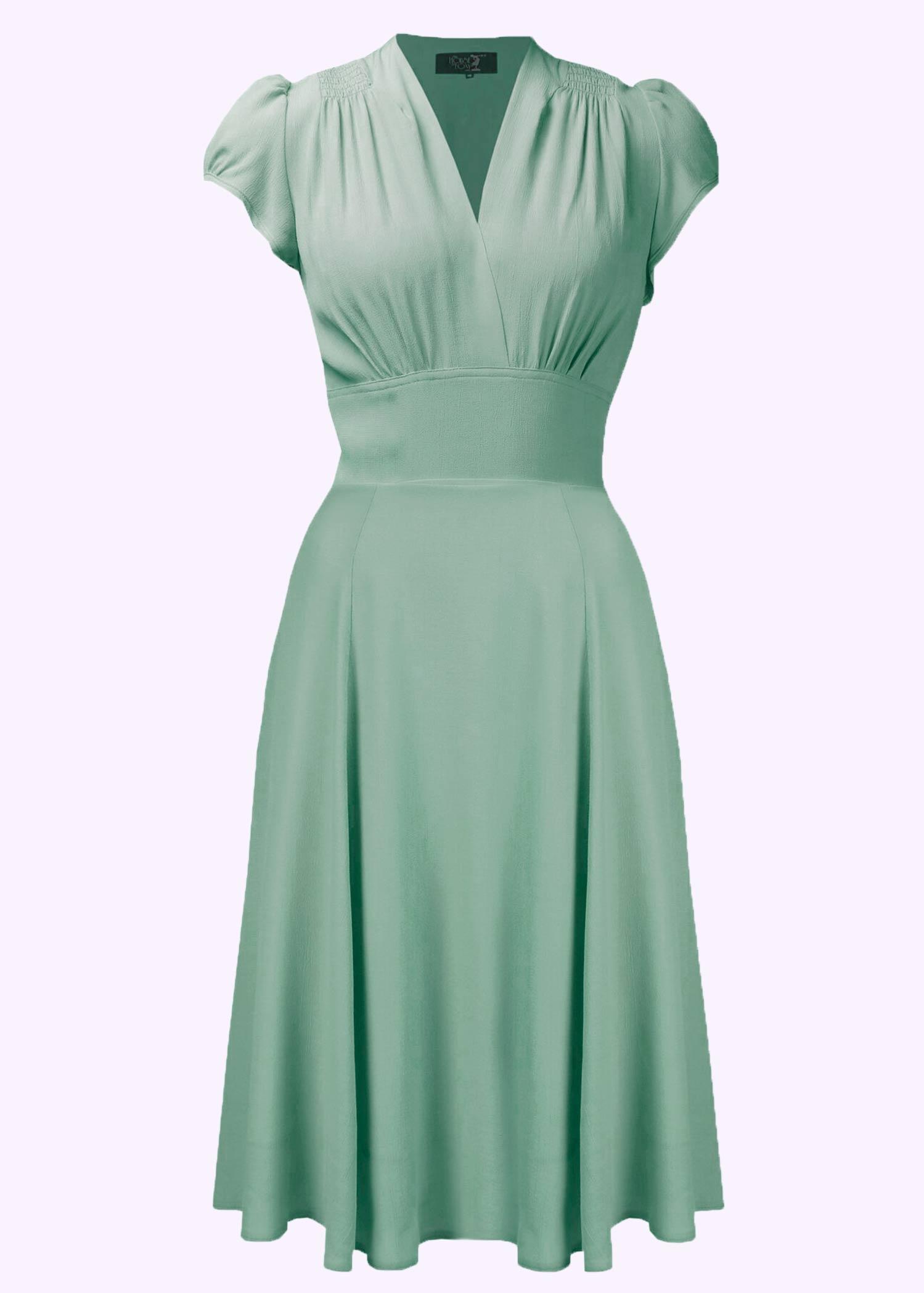 Grøn brudepige kjole
