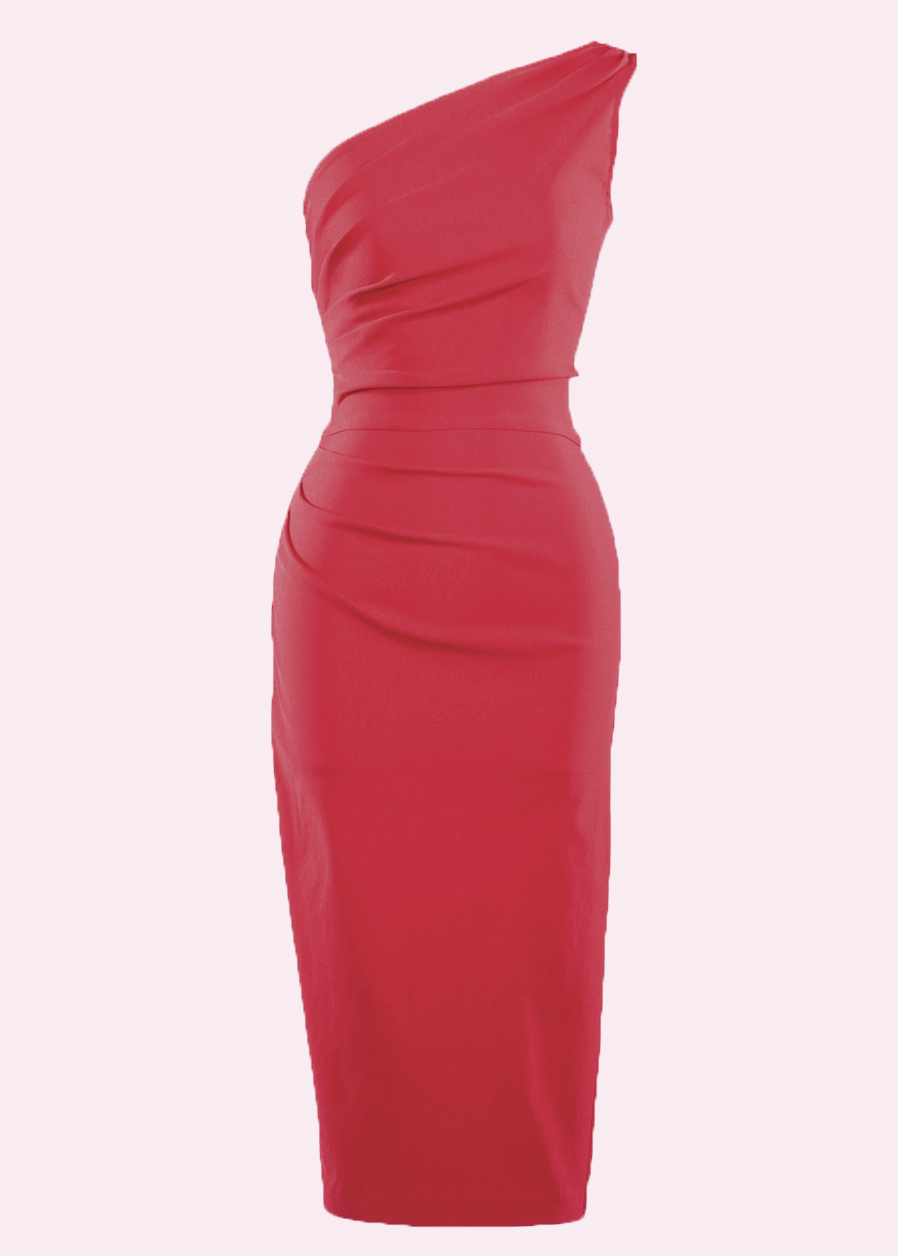 Red asymmetrical pencil dress from Stop Staring!