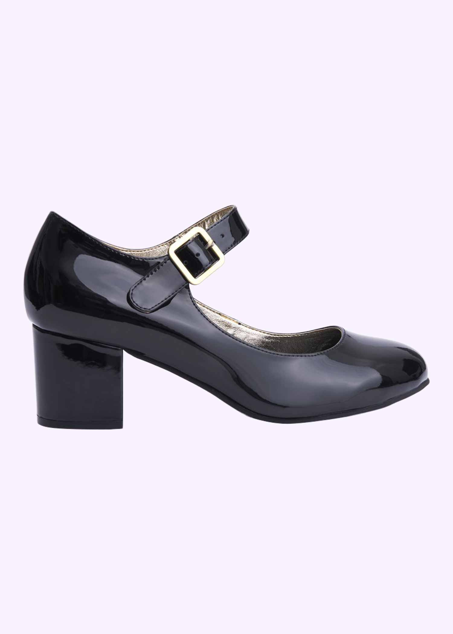 60s Mary Jane shoes in black lacquer from Lola Ramona