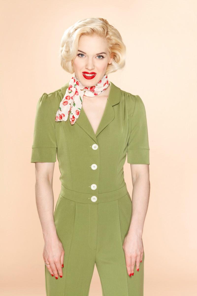 Very Cherry 1950'er stils buksedragt