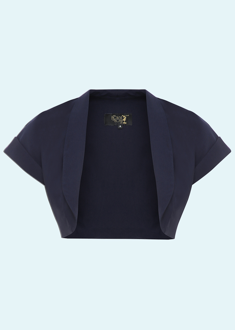 Bolero i navy blå fra The House Of Foxy