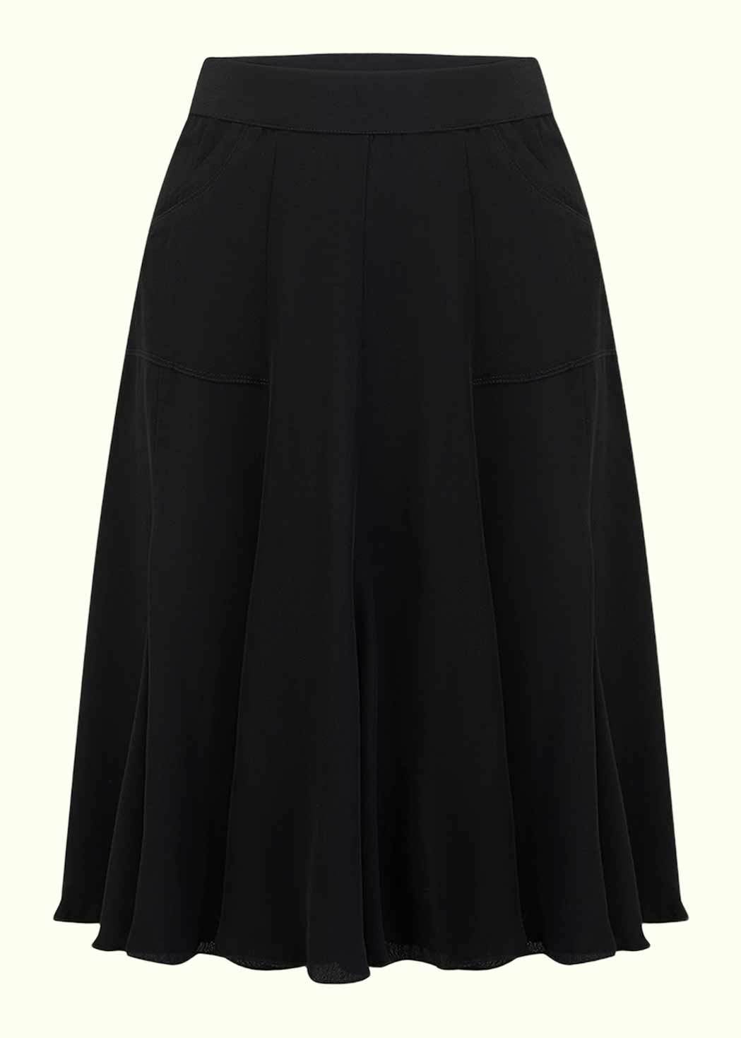 Classic 1940s A-line skirt in black from Seamstress OF Bloomsbury