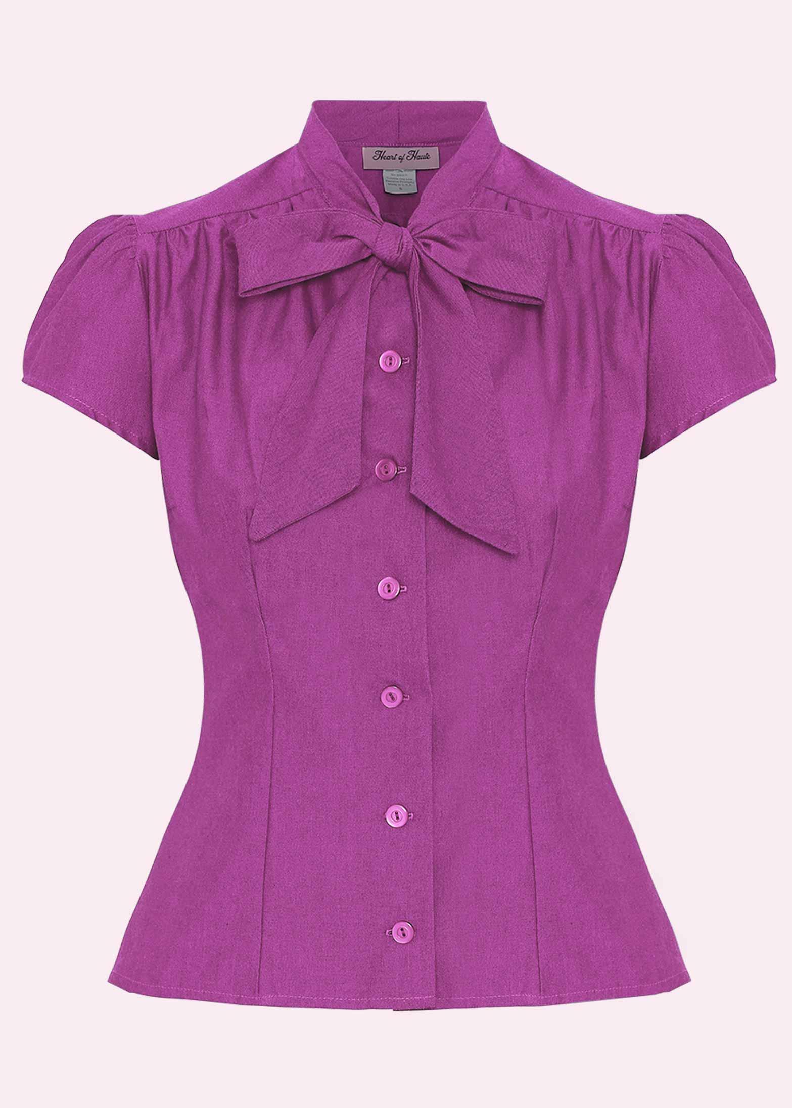 """Estelle skjorten med """"pussy bow"""" i pink fra Heart Of Haute"""