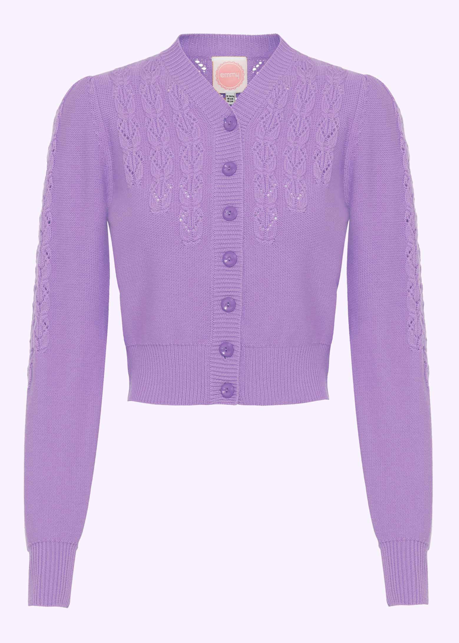 Peggy Sue cardigan in lavender from Emmy Design