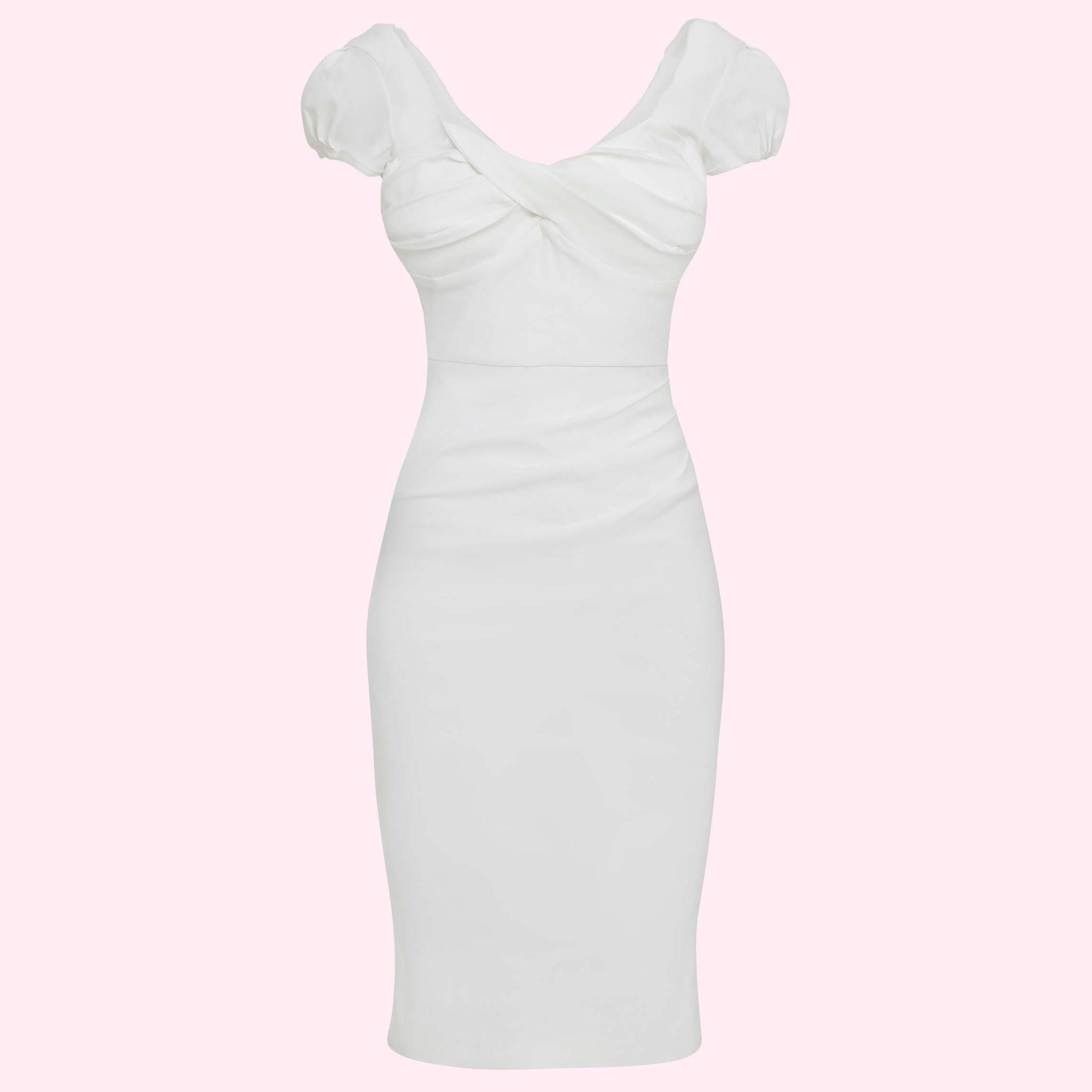 Stram figursyet brude kjole i hvid fra Stop Staring