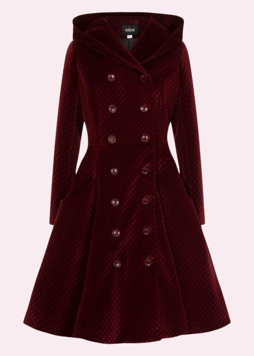 Vintage vinter frakke i rød