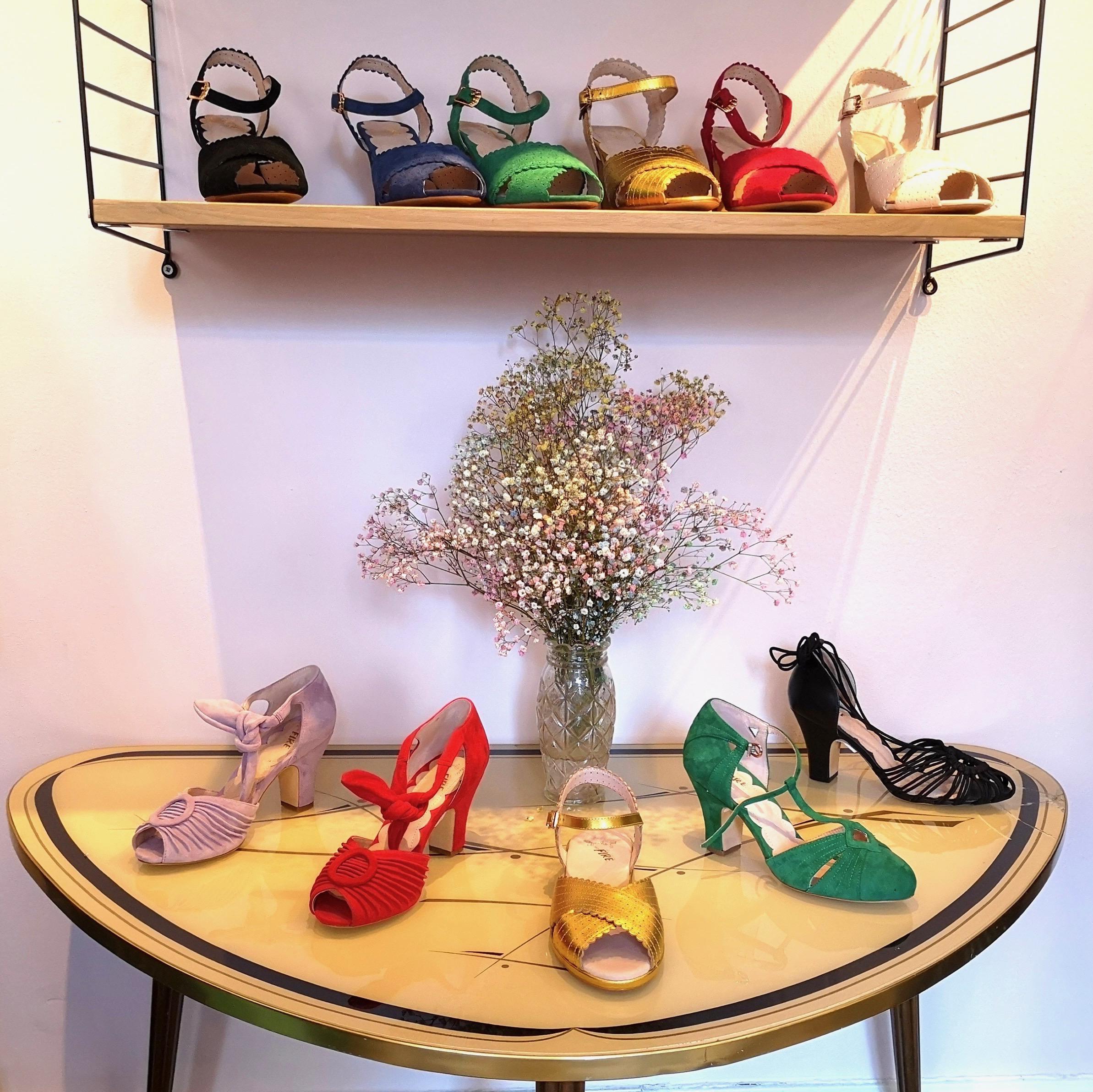 Vintage inspirerede sko og sandaler til brude outfittet fra Miss L Fire
