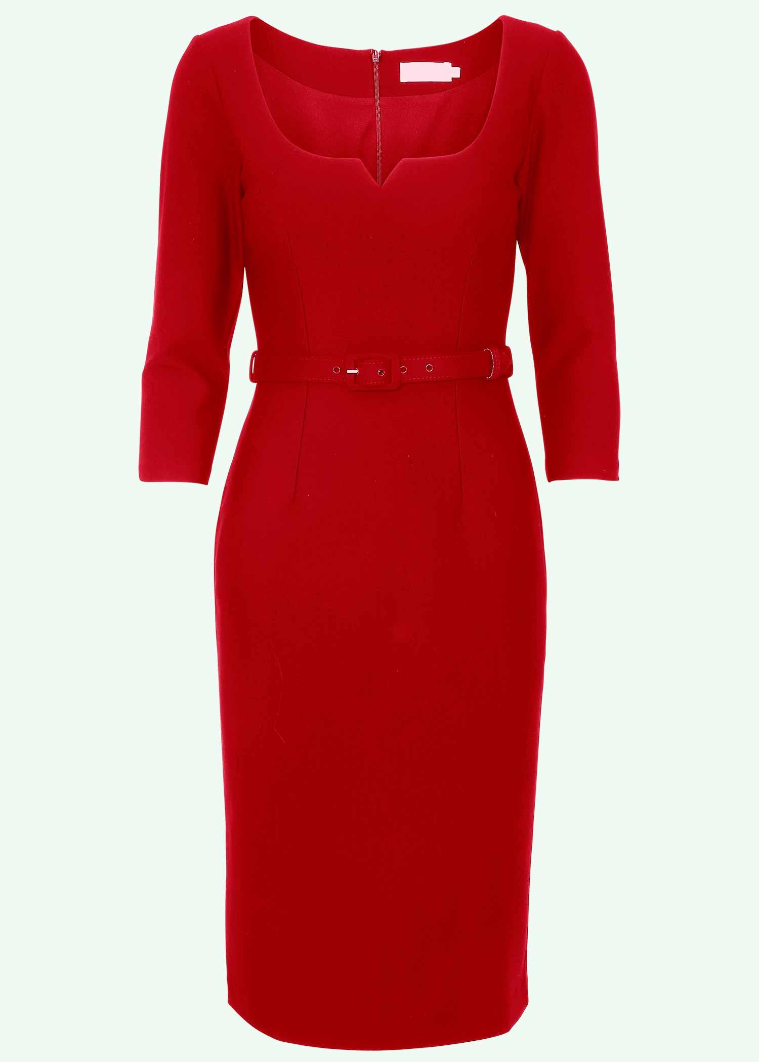 Caroline dress in red from Zoe Vine