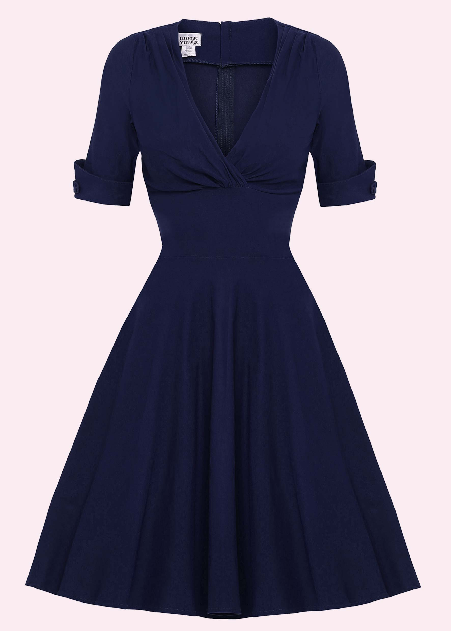 Mad Men 50s dress in navy blue from Stop Staring!