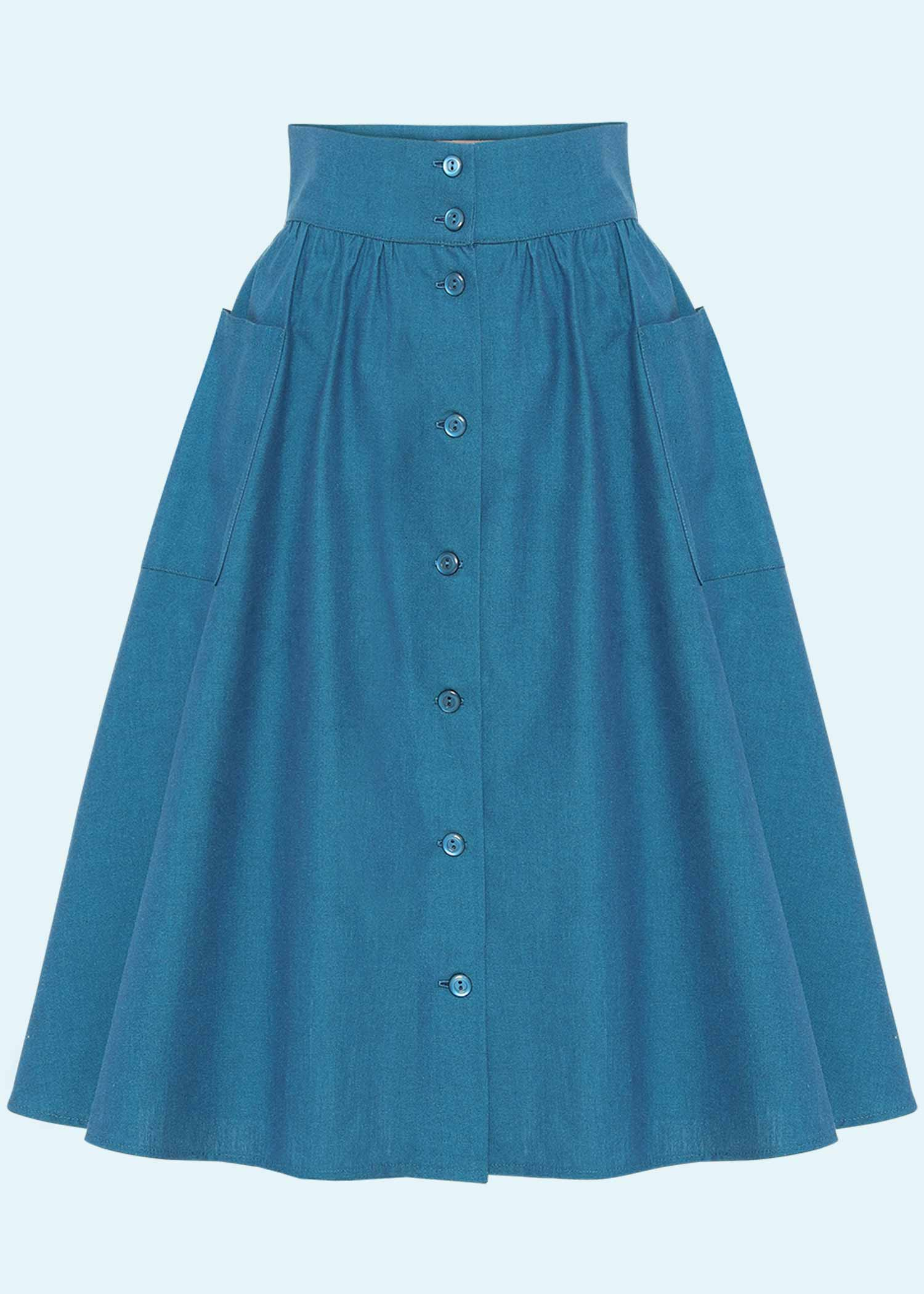 50s inspired skirt in blue from Heart Of Haute