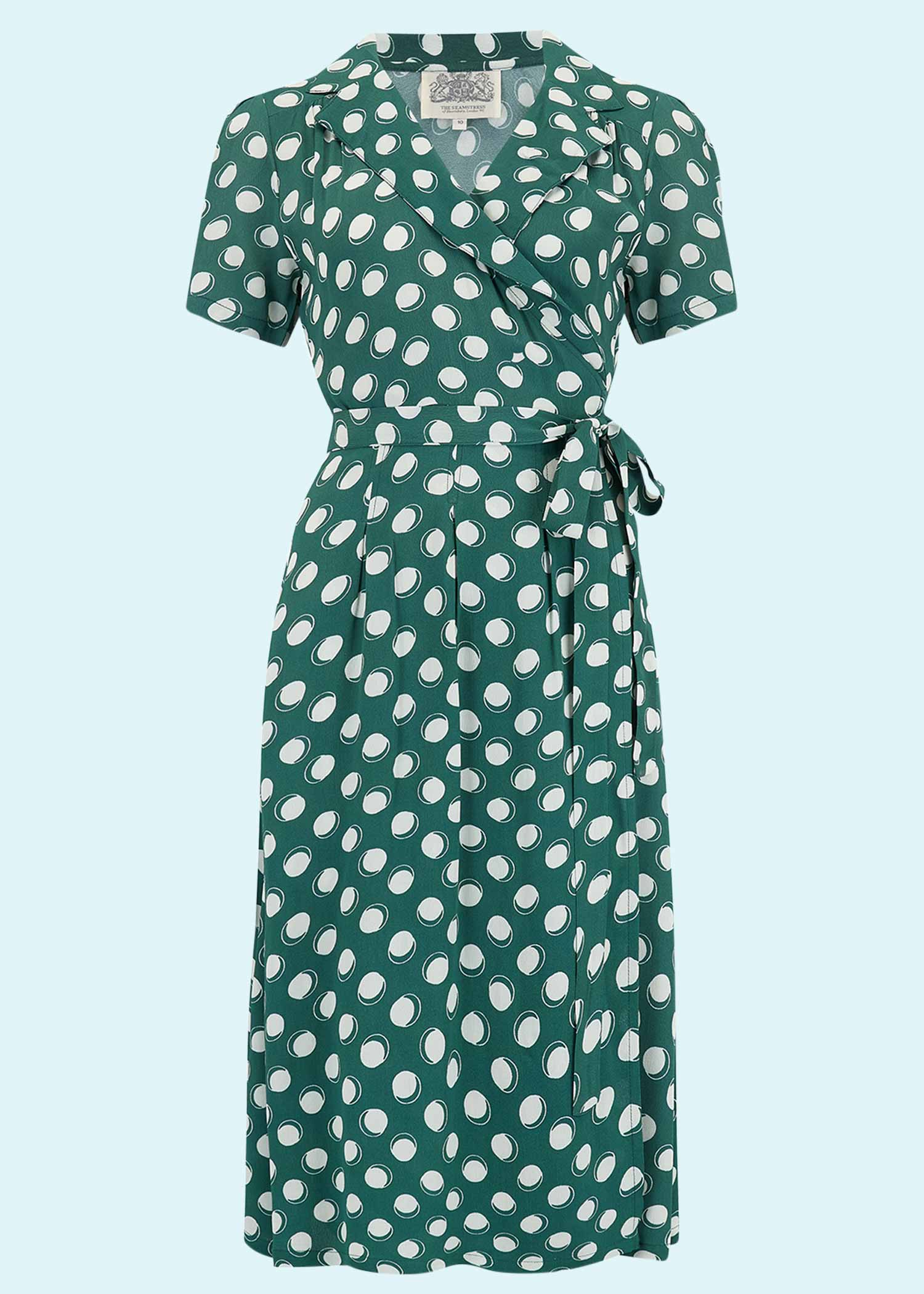 Green slouch dress with dots from The Seamstress Of Bloomsbury