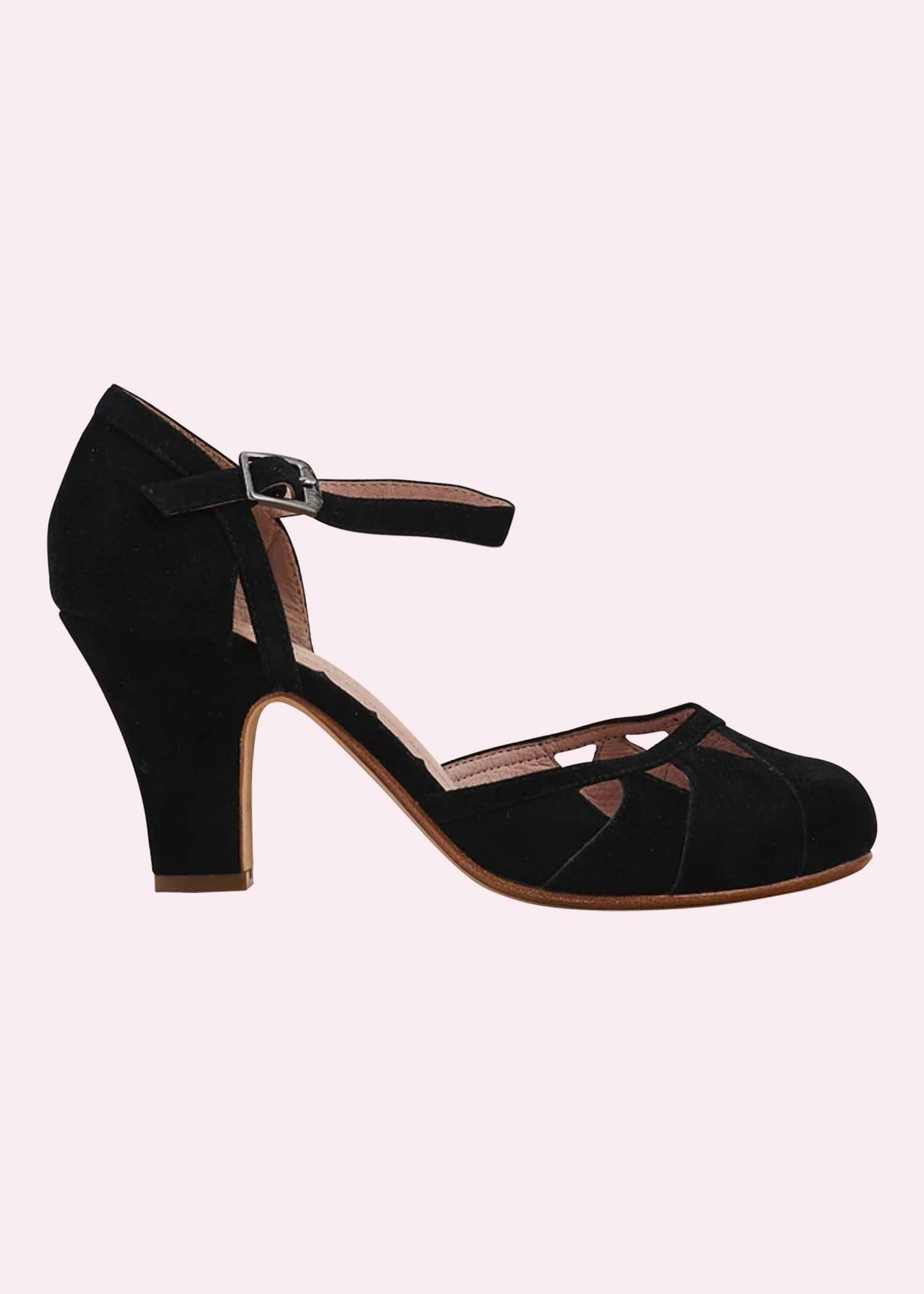 Lucie pumps in black suede from Miss L Fire