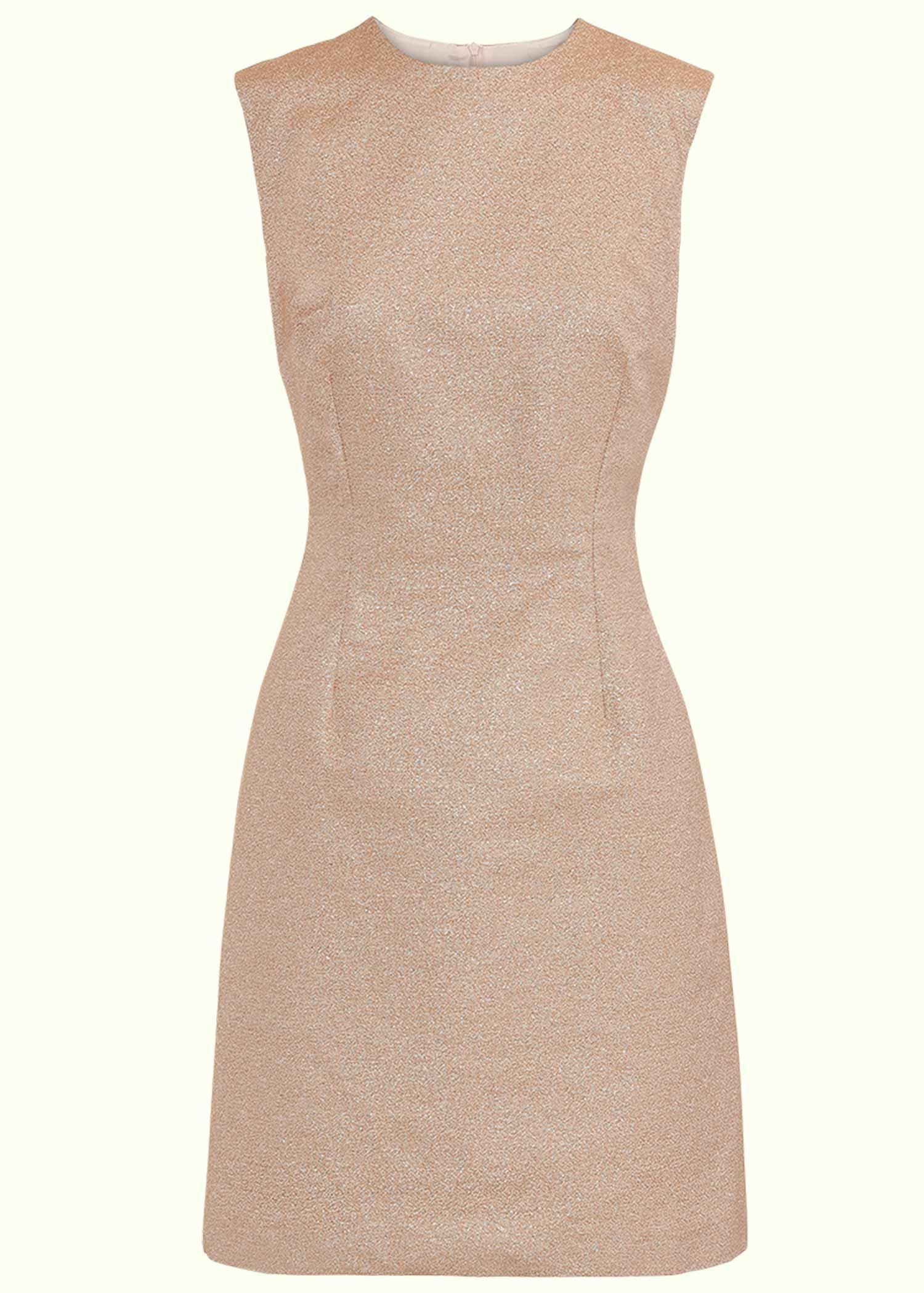 60'er Mini kjole i guld glitter fra Marmalade