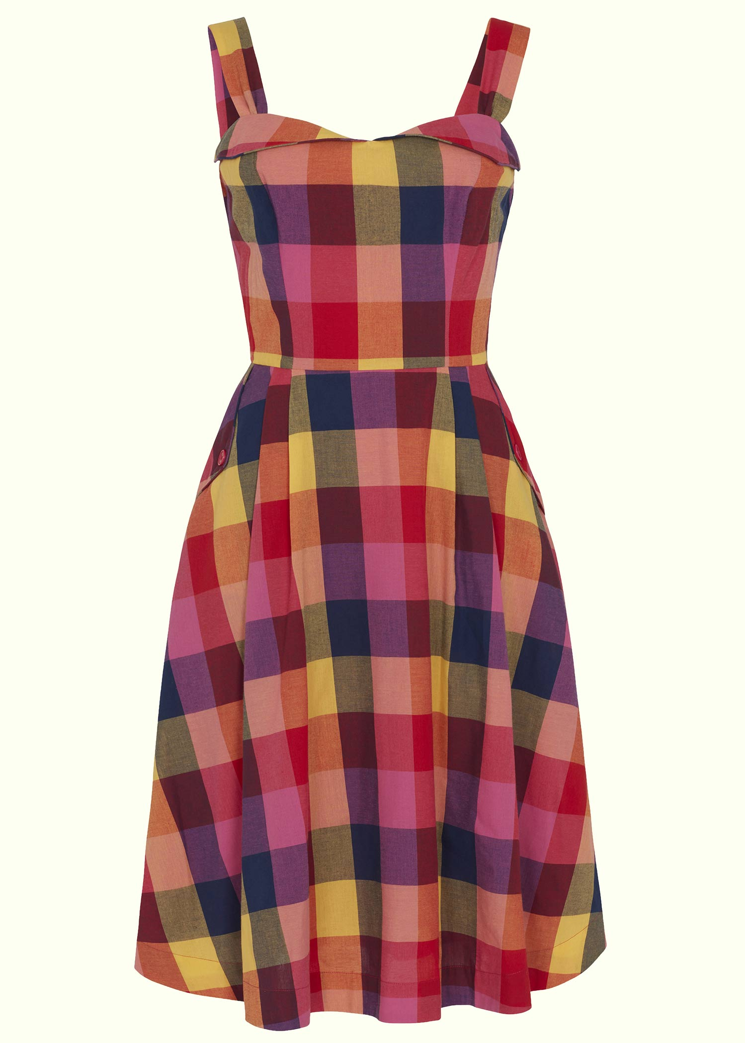 Aline retro checkered summer dress from Emily and fin