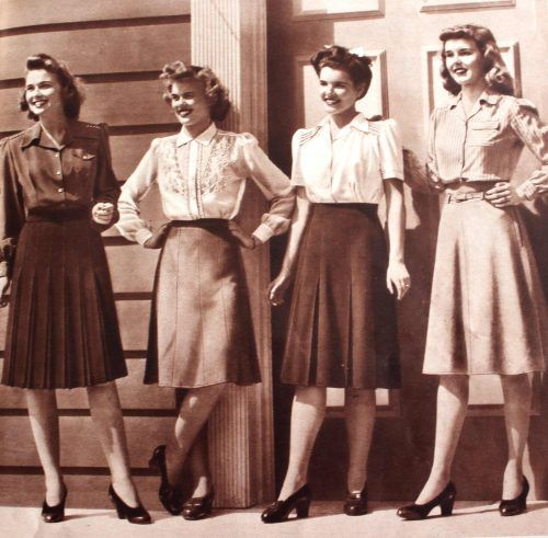 Skirts and other clothing inspired by the 1940s