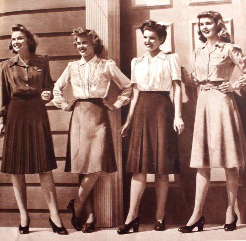 Nederdele og andet tøj inspireret af 1940'erne