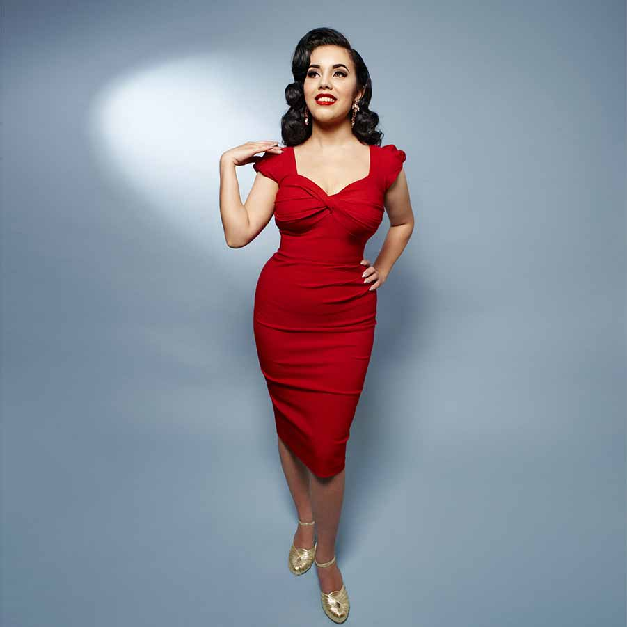 Red tight 50s style pencil dress from Stop Staring