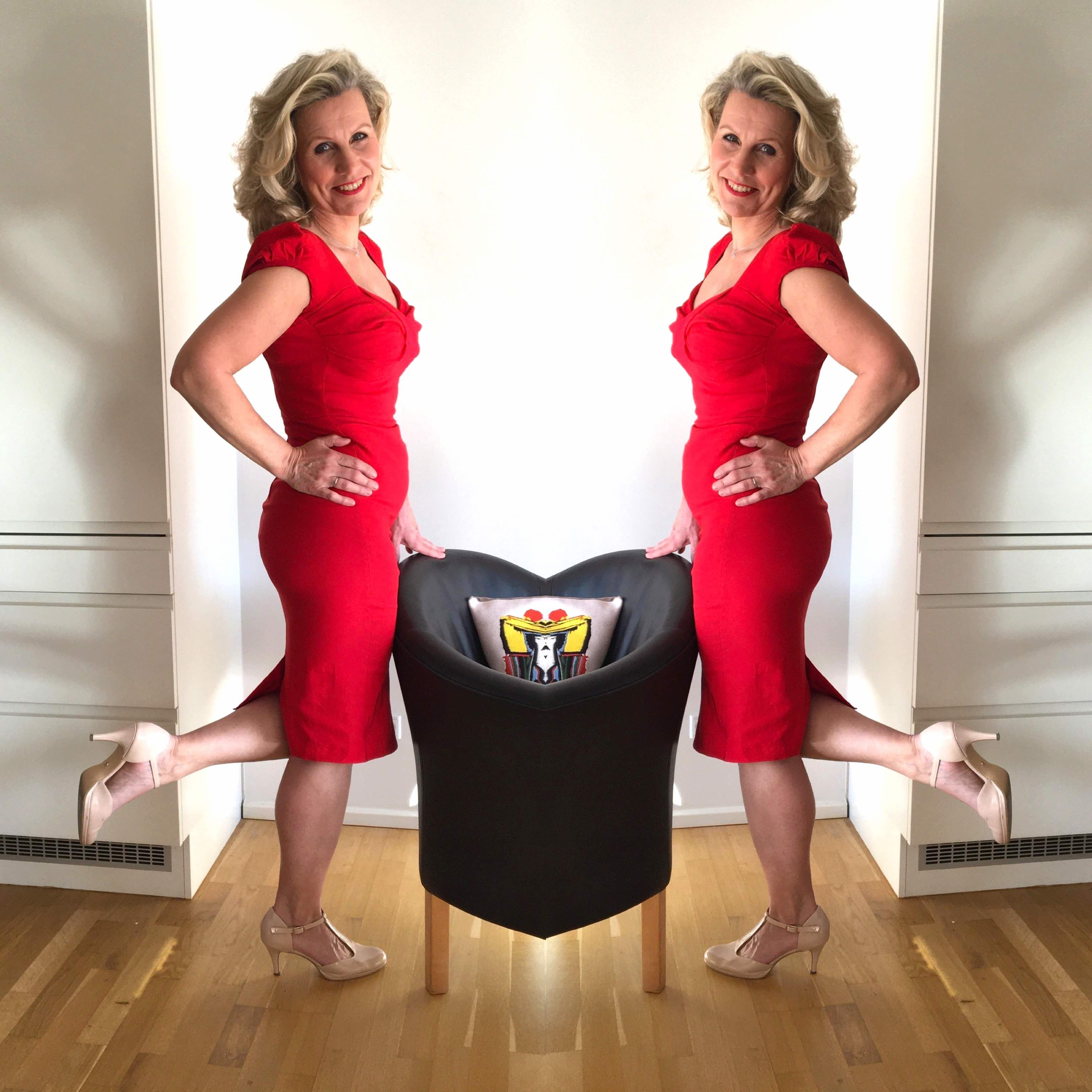 Stop staring trillion dollars red tailored pencil dress