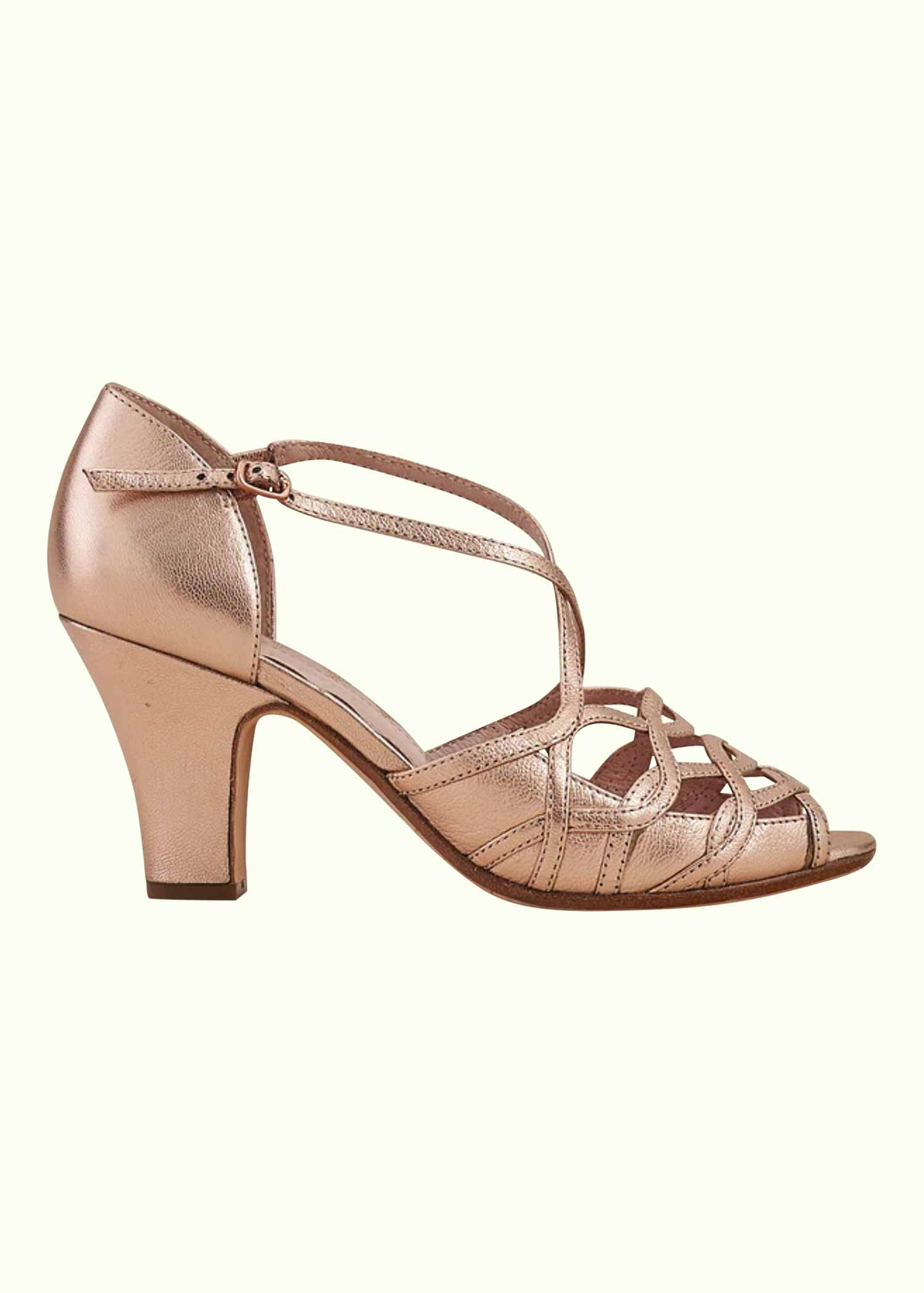 Alele pumps in Rose Gold from Miss L Fire