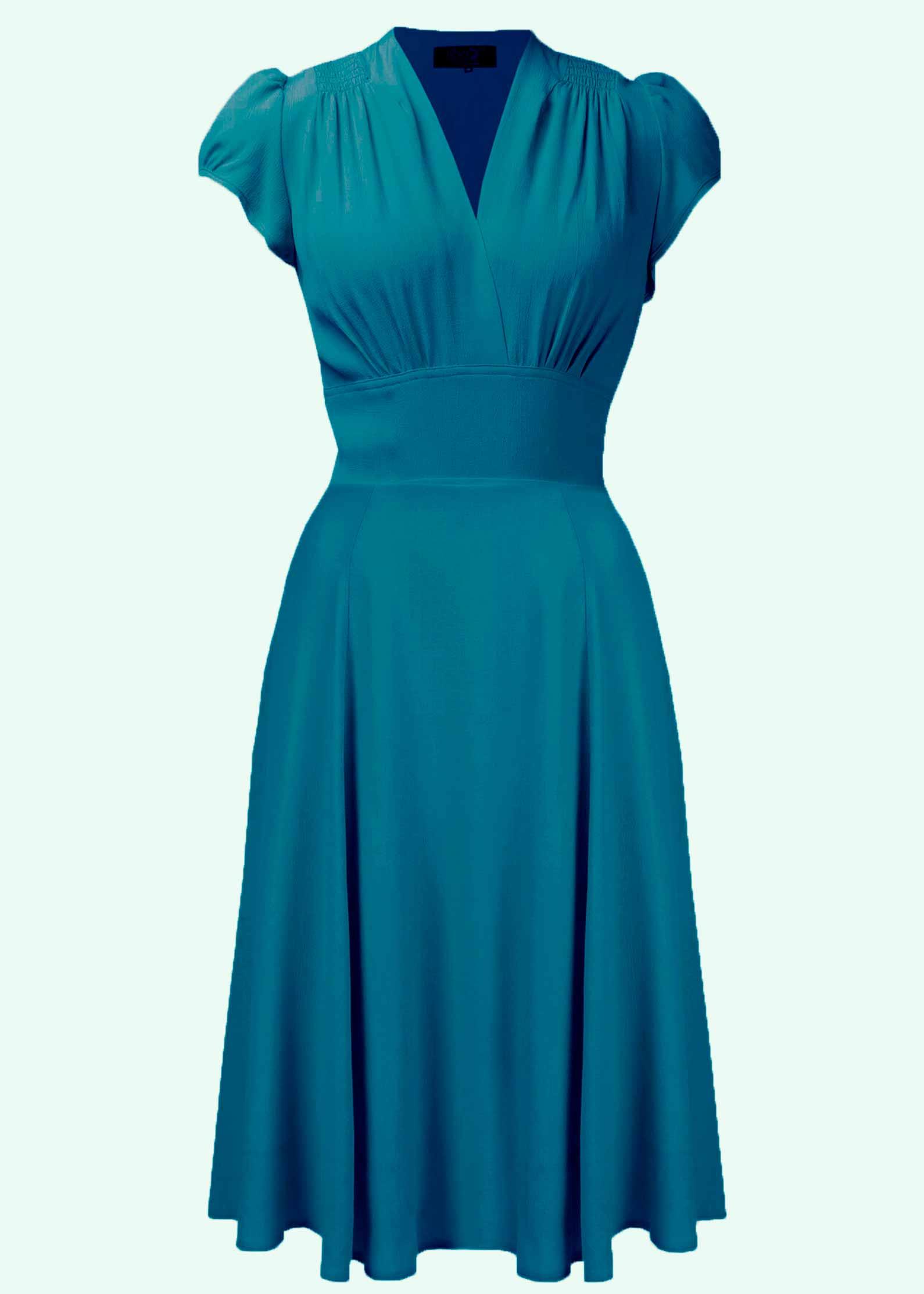 Ava kjolen fra The House Of Foxy i Teal
