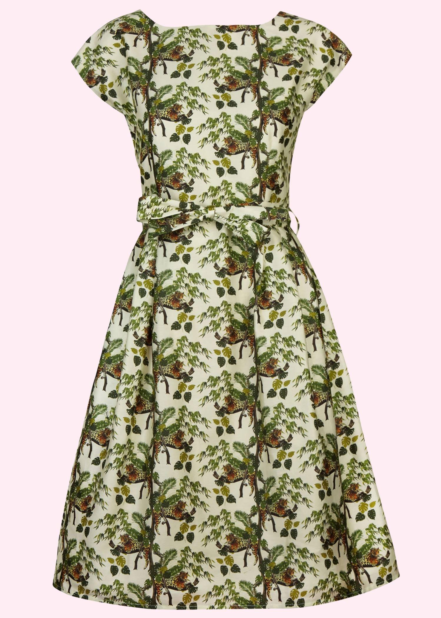 Beatrice sommer kjole i bomuld med leopard print fra Palava