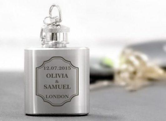 hip flask wedding favour