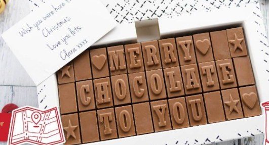 Make personalised chocolate cards