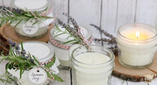 Make custom scented soy candles