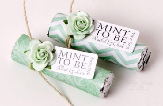 mint to be wedding favour
