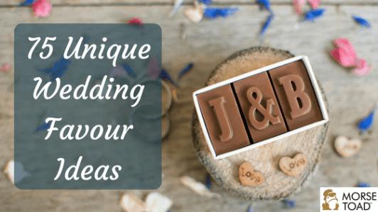 unique wedding favour ideas