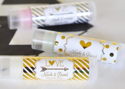 lip balm wedding favours