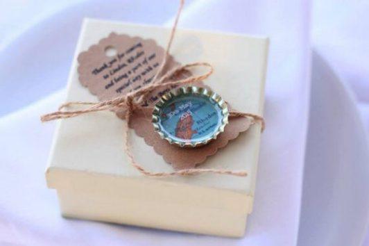 fridge magnet wedding favour