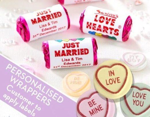 love heart wedding favours
