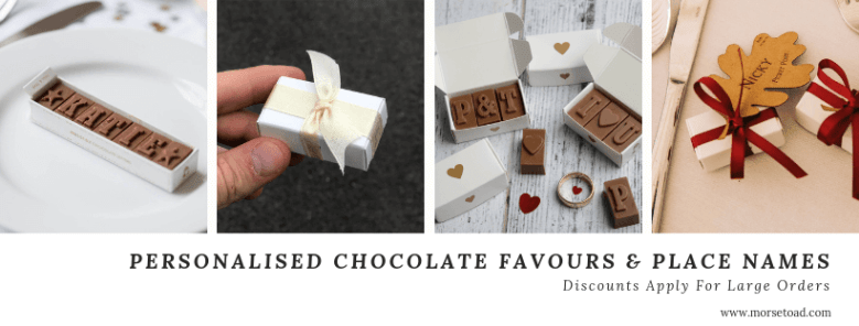 chocolate wedding favours