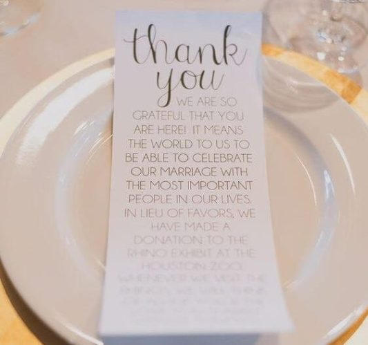 charity wedding favour ideas