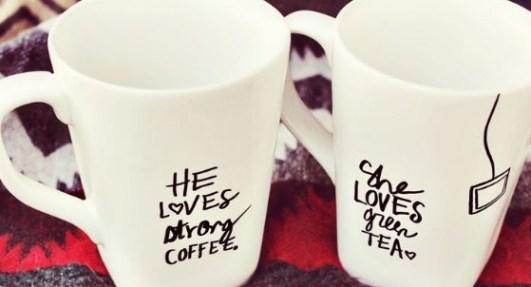 Make personalised sharpie mugs