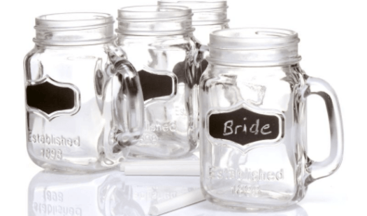 glass wedding favour