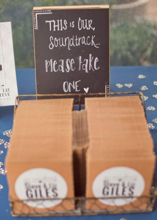 music wedding favours
