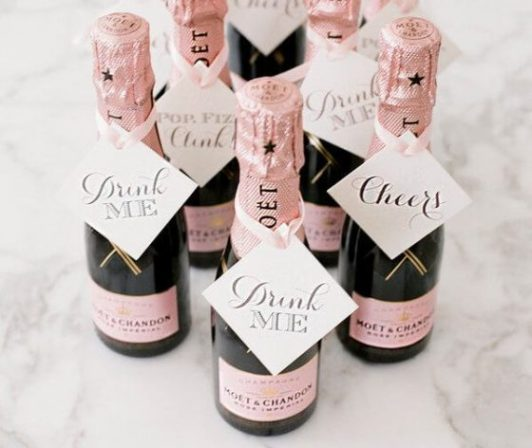 champagne wedding favours