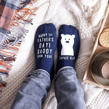 3. Sparks & Daughters normal_personalised-1st-father-s-day-bear-socks
