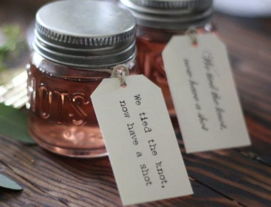 wedding favours to drink