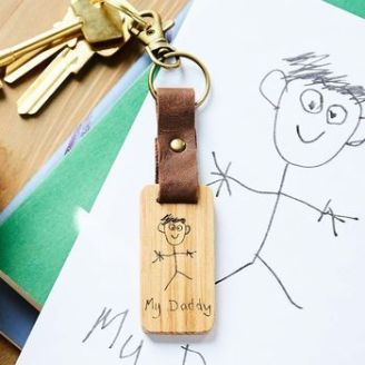 2.normal_personalised-child-s-drawing-leather-and-wood-keyring