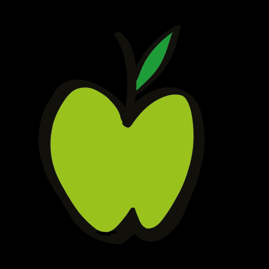 illustrated apple