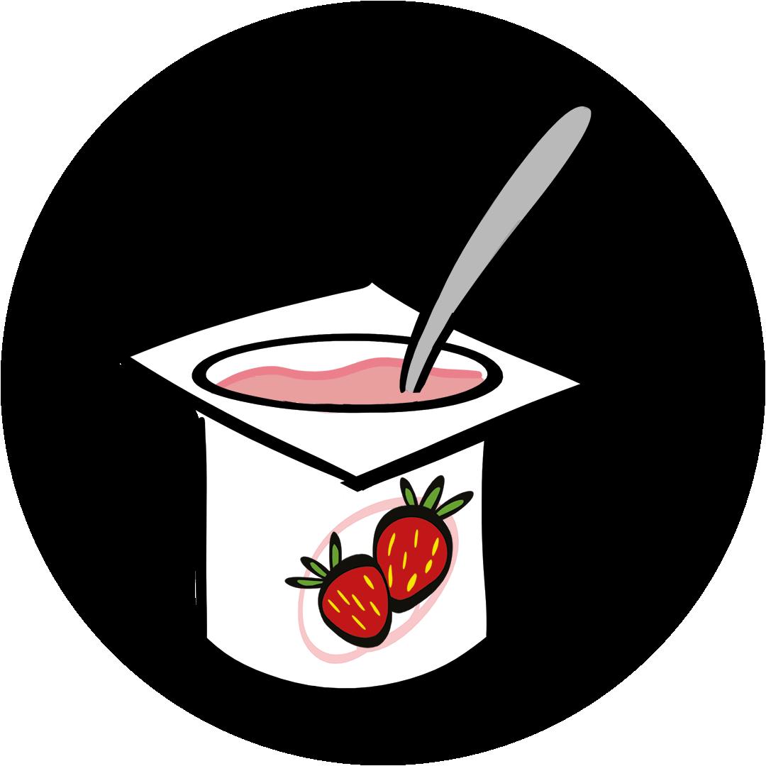 illustrated yogurt