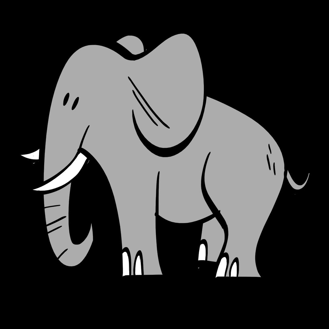 illustrated elephant