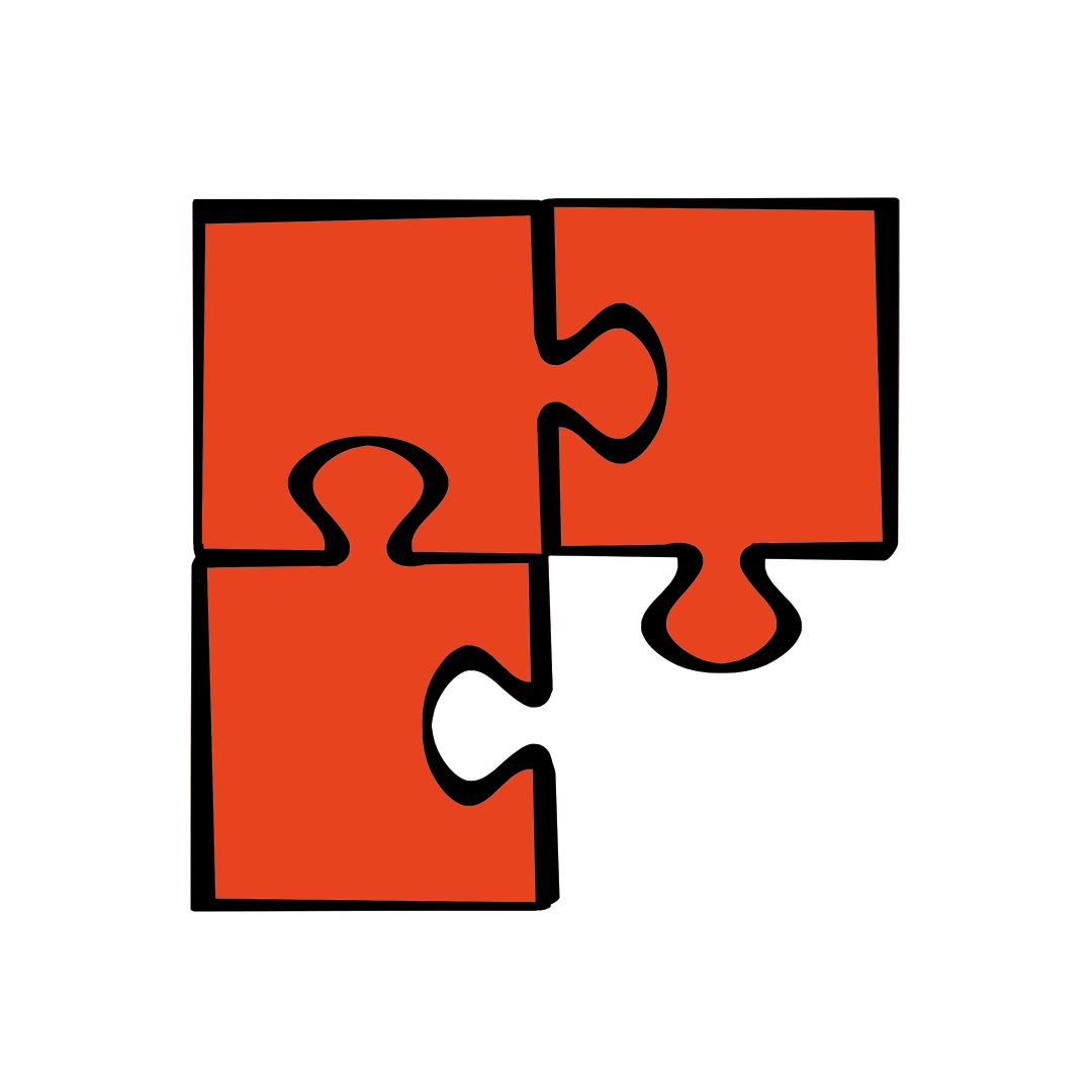illustrated puzzle with missing piece