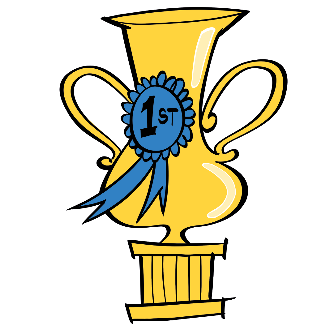 illustrated trophy prize