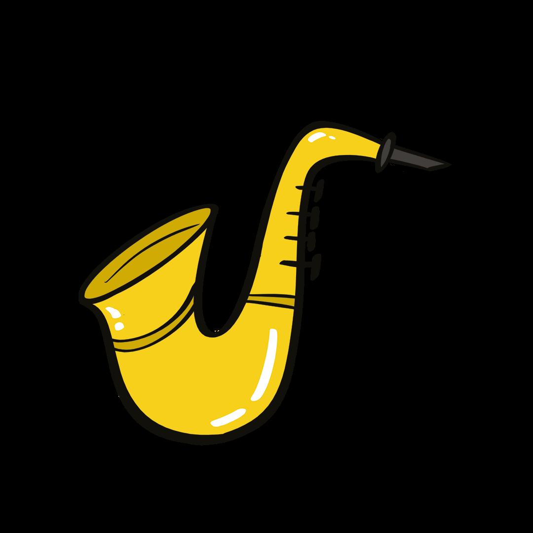 illustrated saxophone