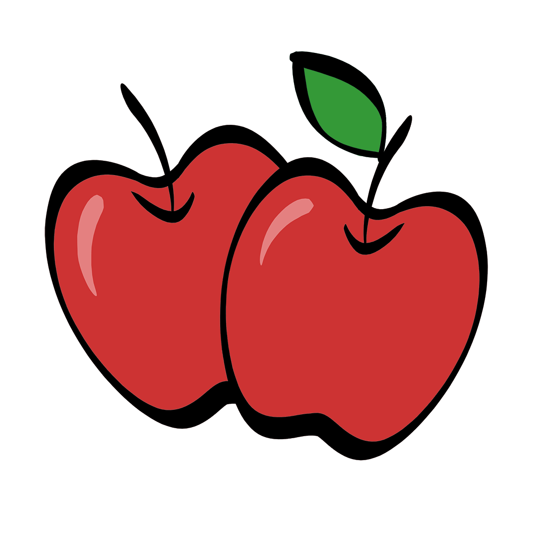 illustrated apples