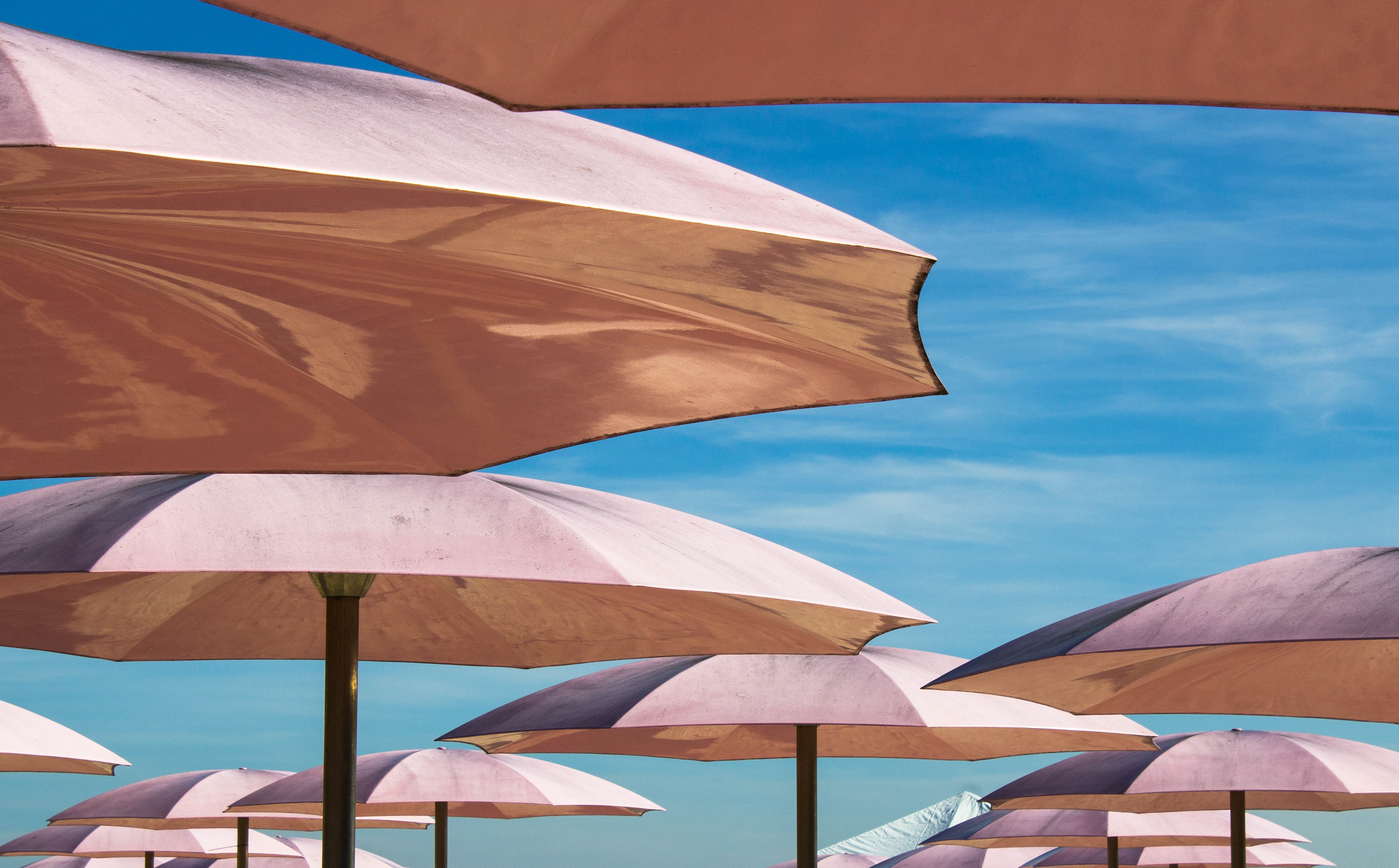 Parasols in the beach